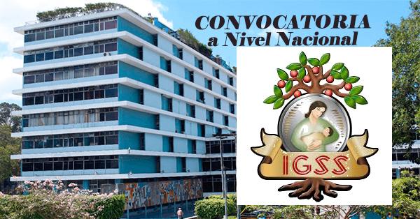 Convocatoria Nacional IGSS de Guatemala
